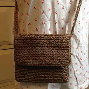 THE SAK tan crossbody bag purse